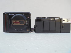 A lot of 2 cameras, a Revue 35 CC from around 1981 and a Fuji TW3 35 mm camera.