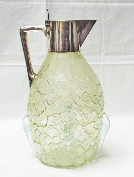 Koch & Bergfeld - Art Nouveau carafe with silver mounts
