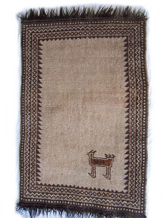 Semi antique Nomadic Handmade gabbeh Persian carpet - Iran - 20th century