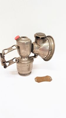 Carbide bicycle lamp - Jos Lucas and copper plate bicycle tax 1937-1938
