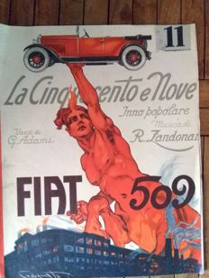 "Popular hymn ""LA CINQUECENTO e NOVE"" Original score from 1925"