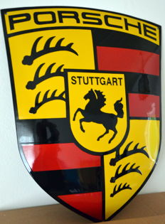 Porsche enamel sign 65 cm x 52 cm - 21th century