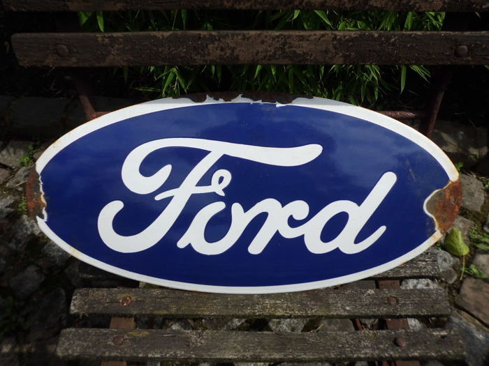 FORD enamel sign - 46 x 23 cm