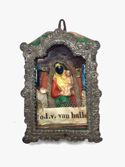 "Antique Reliquary - ""O.L.V van HALLE - Our Lady of Hall"" - Belgium"