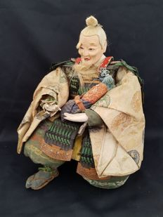 Musha Ningyo Minister Takenouchi No Sukemune (30 cm) - Japan - 19th century (Edo period)