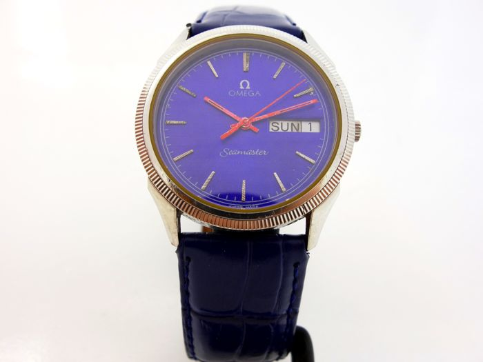 Omega Seamaster Blue Dial Quartz Men's WristWatch 1984