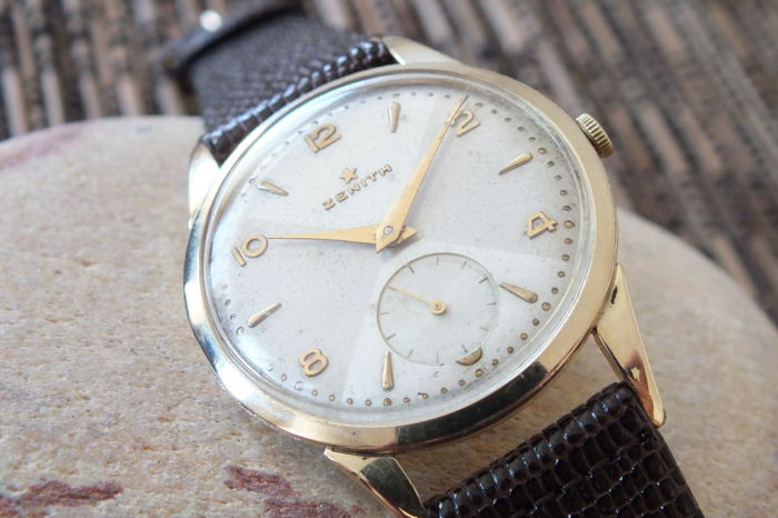 ZENITH 80 Microns Gold Filled  - Men's Windup Watch - Vintage 1953