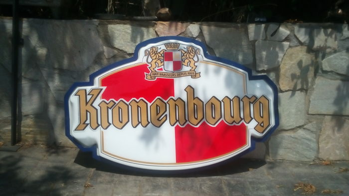 Large luminous advertising sign of KRONENBOURG beer