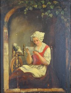Unknown. (19th century) -  The love letter.