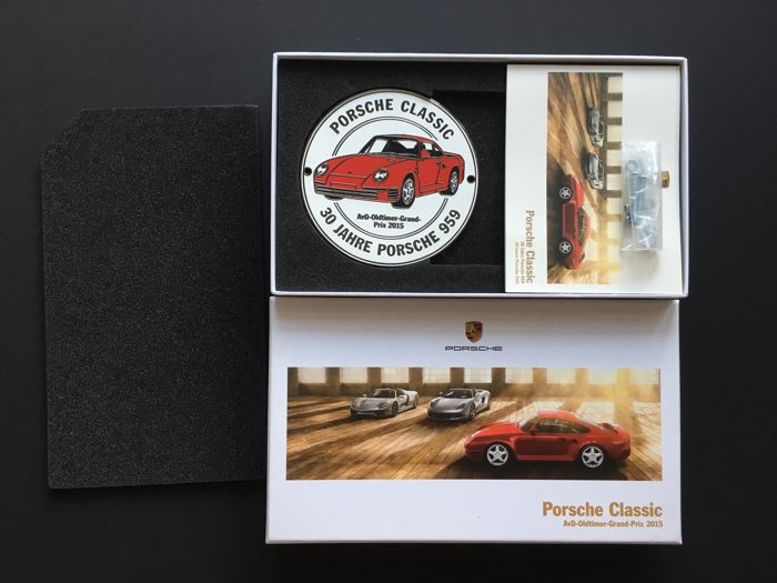 Porsche original grille badge - limited on 959 pieces