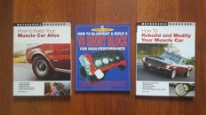 Lot of 3 Technical books about the Muscle Car