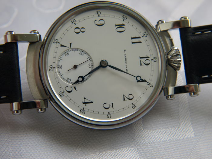 L. Leroy marriage men's wristwatch 1900-1910