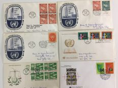 UNO 1951/1990 - collection of 730 first day covers