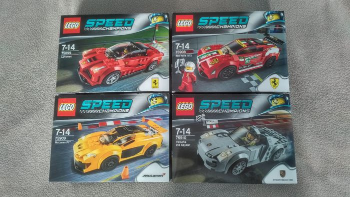 Speed Champions - 75899, 75908, 75909 and 75909 - LaFerrari, 458 Italia, McLaren and Porsche