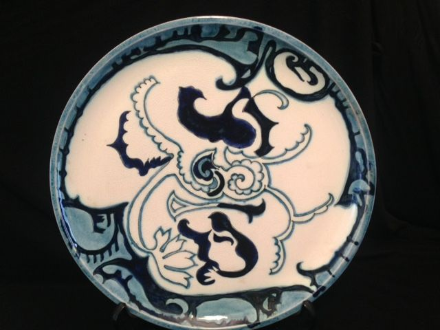 T.A.C. Colenbrander, Rozenburg Den Haag - An early and rare blue wall plate