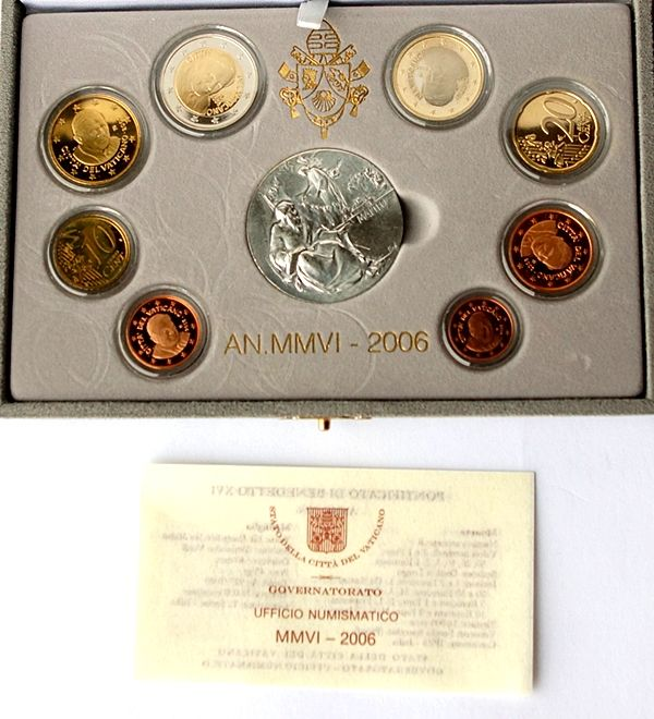 Vatican -- euro 2006 Vatican original coin set Vatican in blister with medal -- proof