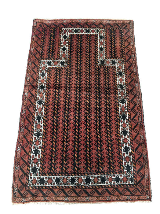 Handmade village rug: Beloutch, 150 x 96 cm, circa 1920!