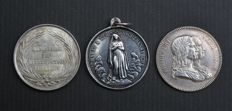 France - lot of 3 medals or tokens - silver