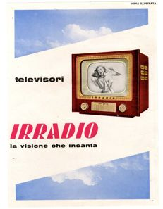 1954 advertising - Irradio televisions - original