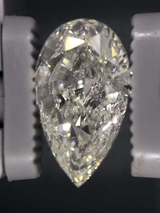 3.01 Pear Brilliant Natural Diamond I SI1