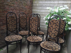 Thonet – set of 6 vintage wooden chairs