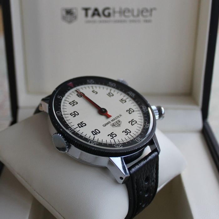 HEUER GAME-MASTER wrist stopwatch for drivers and copilots.