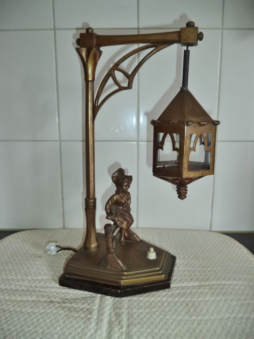 Bronze table lamp - France - ca. 1920