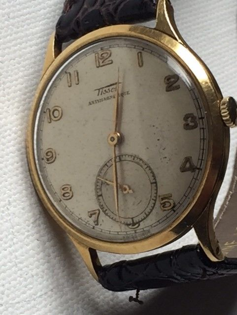 Tissot — Vintage-18K (0,750)Yellow Gold-1940-Very Rare