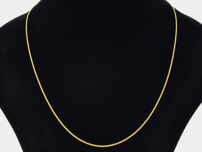 18k Gold Necklace. Gourmet Chain. Length 50 cm.
