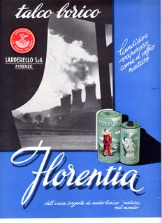 1954 Advertising - Florentia Larderello - Borico Talc - original