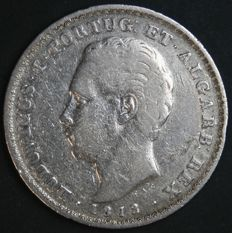 Portugal – 500 Reis in SILVER – D. Luís I – 1872 – Lisbon – Hardest Date to Find – See Note
