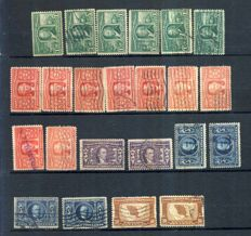 USA 1890/1925- A collection out of 11 stock sheets