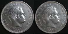 Portugal – 2 Coins of 500 Reis in SILVER – Carlos I – 1898 and 1907 – Lisbon – UNC