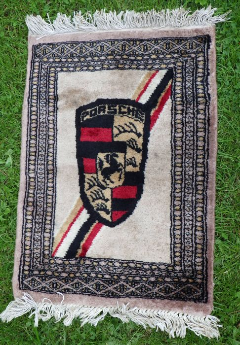 Rug with Porsche insignia, 78/50.5 cm - Sixties