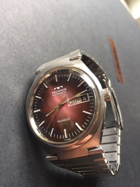 Technos-Pioneer-2769ETA-Vintage-Men's-1968-Swiss-Very Rear