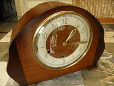 Wonderful, large Smiths mantel clock / table clock with Westminster (floating balance) movement – period 1955/1960