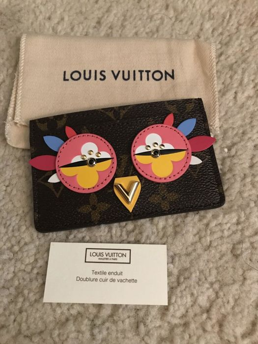 Louis Vuitton - limited edition lovely bird/owl card holder - full set - sold out worldwide