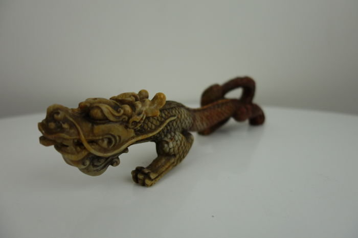 Dragon soapstone carving – China – 2nd half 20th century