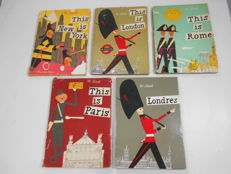 Sasek: This is New-york - This is Paris - This is Rome - This is London - Londres - 5 vols -  1963