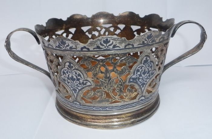 Silver chocolate basket, Russia, after 1958