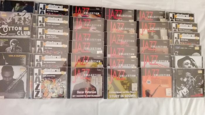 Lot of 35 cd of jazz music  Armstrong, jones, fitzgerald and many More