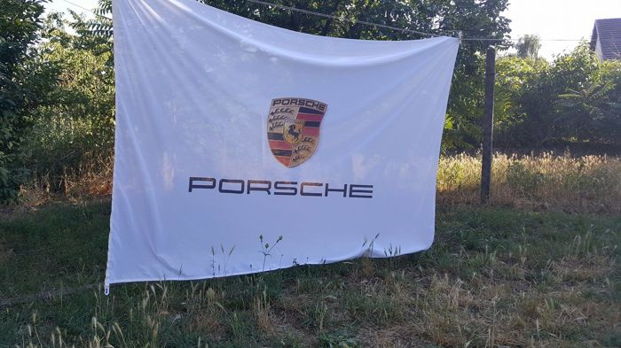 Original Porsche flag Workshop/Garage Flagge