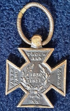 The metal cross 1830-1831 Dutch award MMW 31
