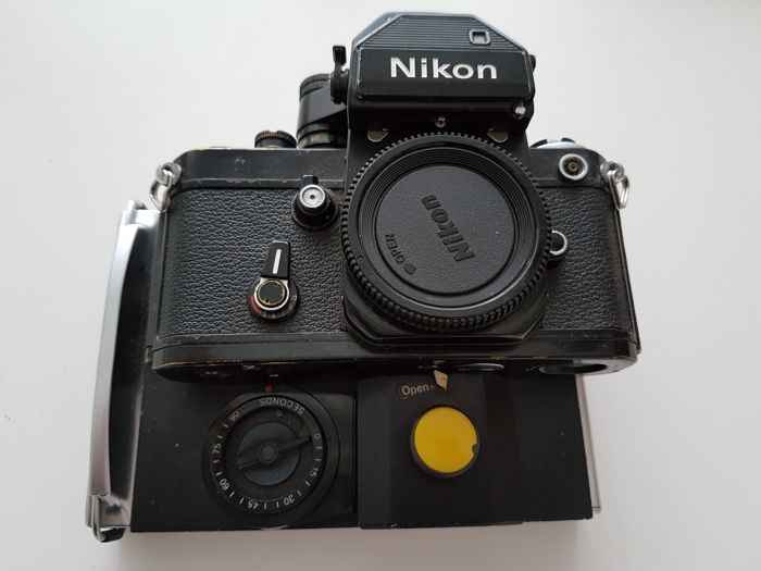 Nikon F with a polaroid back