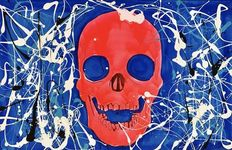 Rick Triest - Skull in pink