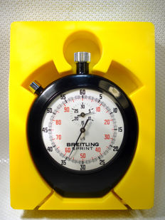 Breitling Sprint vintage Swiss chronograph Stopwatch 1/5 - Yellow rope 1979