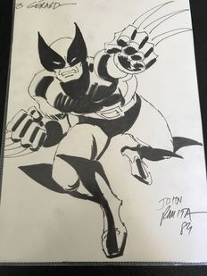 Rare Original Sketch By John Romita Senior - Wolverine - Marvel Comics