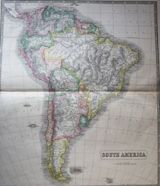 South America; George Philip & Son - South America - 1853