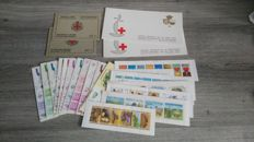 Belgium - Batch of stamp booklets with 914A+B and 1627A+B