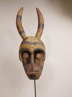 Old wooden Bush Spirit mask - IJO-Nigeria